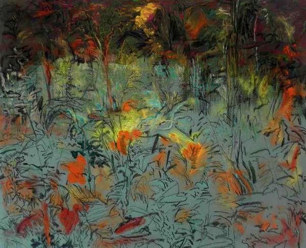 05-Johan Breuker 006 Tuin & wildernis 2015 houtskool, pastel, papier 40 x 50 cm