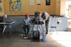 muzikale performance van Kim David Bots en Lycke de Jong